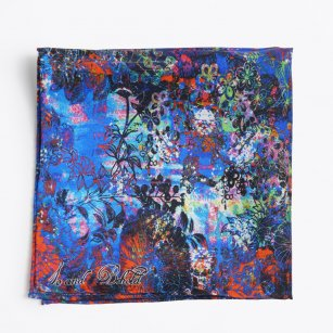 | Neptune's Garden Pocket Square - Blue