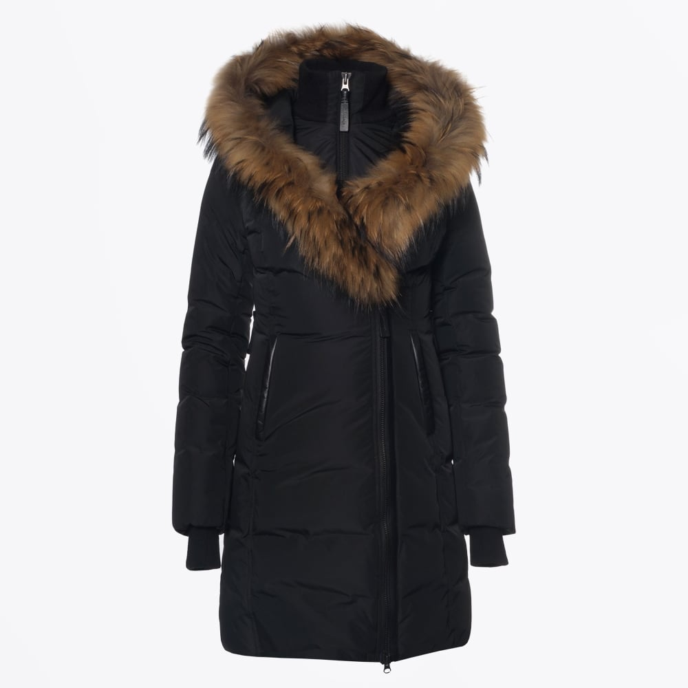 Kay Mid Length Winter Down Coat Fur Collar Winter Coats