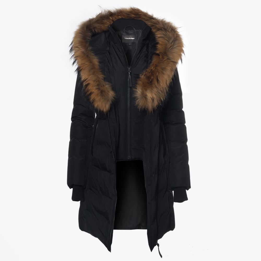 Kay Mid Length Winter Down Coat Fur Collar Winter Coats