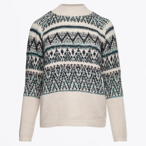 Marc Aurel - Fairisle Kint - Black Varied