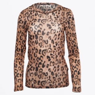 - Leopard Print Top With Gold Trim