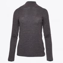 - Ribbed Lurex Knit - Dark Grey