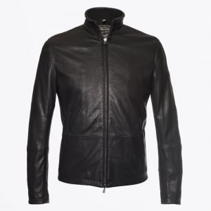 - Craig Blouson Nappa Leather Jacket - Black