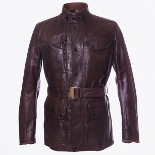 | Kensington Leather Jacket - Brown