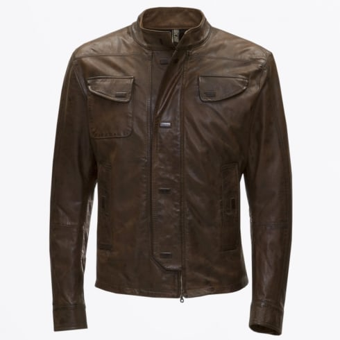 Matchless London - Manx Vintage Magnetic Button Jacket - Brown