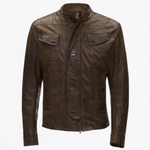 - Manx Vintage Magnetic Button Jacket - Brown