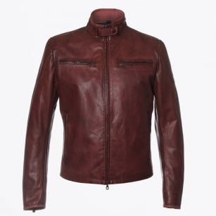 | Osborne Blouson Leather Jacket - Burgundy