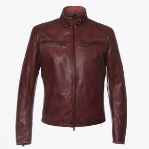   Osborne Blouson Leather Jacket - Burgundy