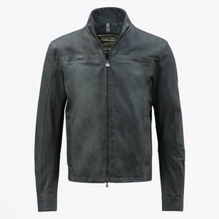 | Stark Leather Jacket - Lead Grey
