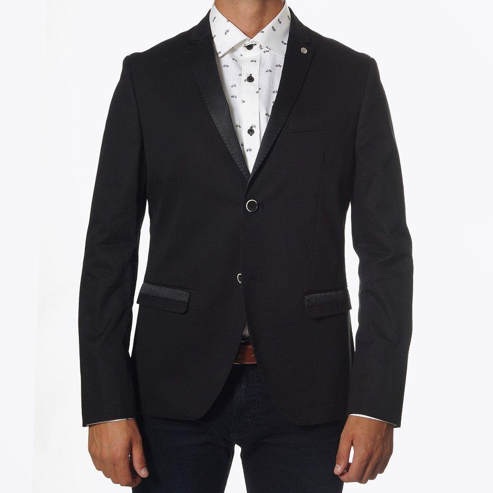 Mens jacket cotton - Matinique Abraham Black Cotton Jacket Light Sporty