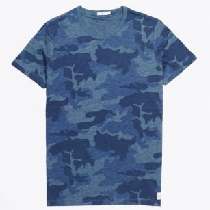 | Bruno W Water Print Jersey T-Shirt - Blue