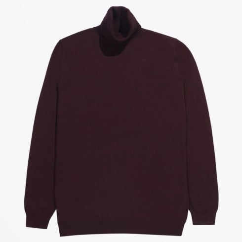 Matinique - Parcusman Merino Polo Neck - Burgundy