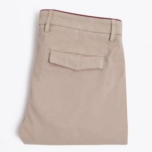   Jack Waffle Fabric Capri Trousers - Beige