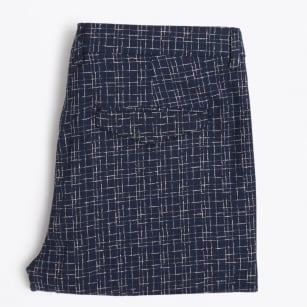   Lungo Line Print Slim Trousers - Navy