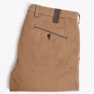 | Lynx Leather Trim Trousers - Khaki