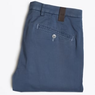 - Lynx Pima Cotton Trousers - Mid Blue