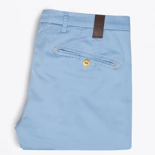 - Lynx Pin Stitch Detail Chino - Blue