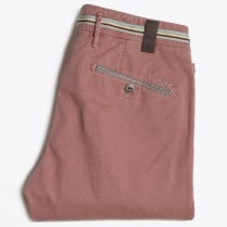 - Rex Textured Stretch Trousers - Pink