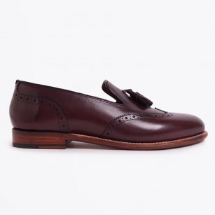 | Monty Leather Loafer - Burgundy