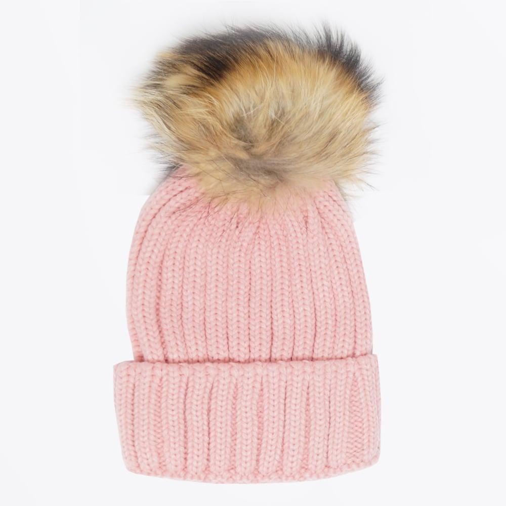 Fur Pom Pom Hat - Blush  38d1f2a6335