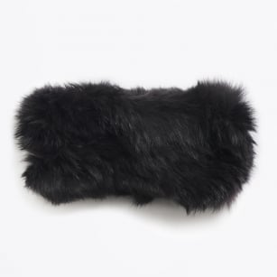 - Rabbit Fur Headband - Dark Grey