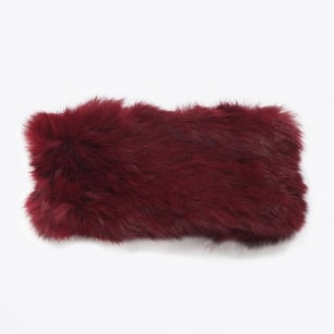| Rabbit Fur Headband - Wine