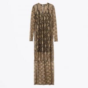 | Jacqueline Full Length Lace Dress - Gold