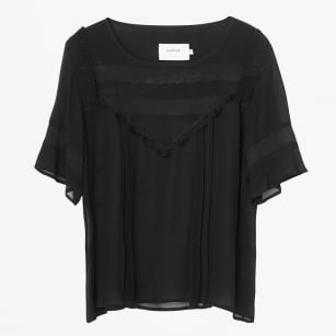 | January Sheer Blouse - Black