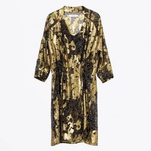 | Jour Long Lace Kimono - Gold