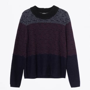 - Juno Relaxed Knit Jumper - Aubergine