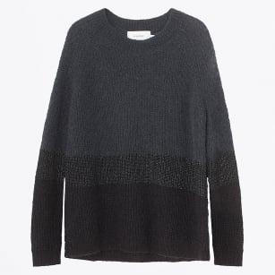 - Oil Crew Knit Jumper - Charcoal