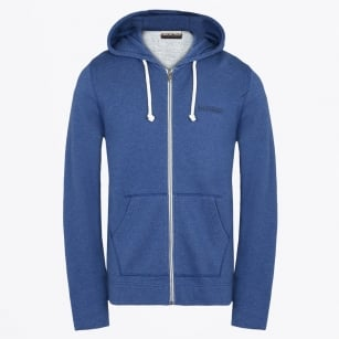 - Bodo Zip Jacket with Hood - Blue Depths