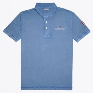 | Elbas Embroidered Logo Polo Shirt - Captain Blue
