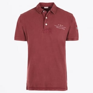 | Elbas Embroidered Logo Polo Shirt - Russet Brown