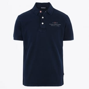 - Elbas Short Sleeve Stretch Polo - Blu Marine