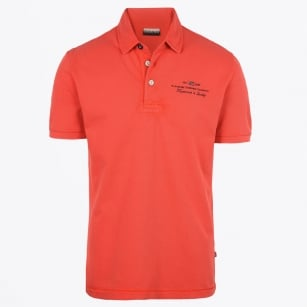 - Elbas Short Sleeve Stretch Polo - Orange