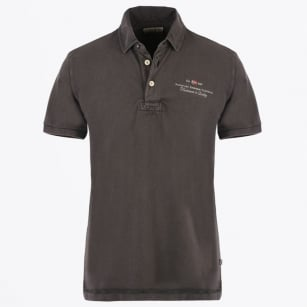 - Elbas Stretch Polo Shirt - Volcano