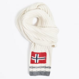| Govan Ribbed Scarf - White