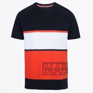 - Safi Stripe T-Shirt - Navy/Red