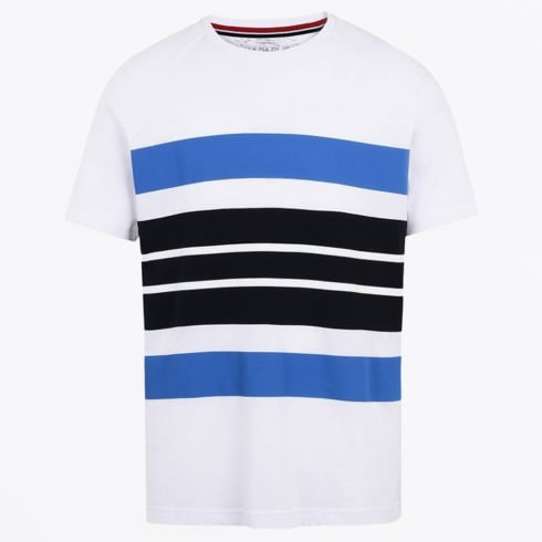 Napapijri - Safi Stripe T-Shirt - White/Navy