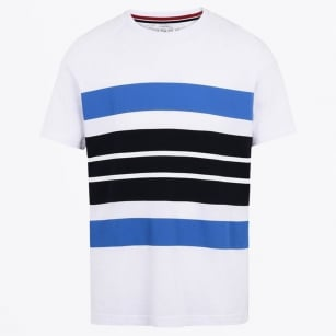 - Safi Stripe T-Shirt - White/Navy