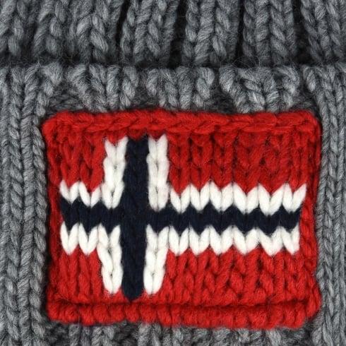 304515bff Napapijri - Semuiry Bobble Hat - Medium Grey Melange