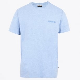 - She Jersey Crew Tee - Light Blue Melange