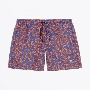 | Vail Printed Swim Shorts - Orange/Blue