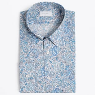 | Pops Flower Print Shirt - Blue