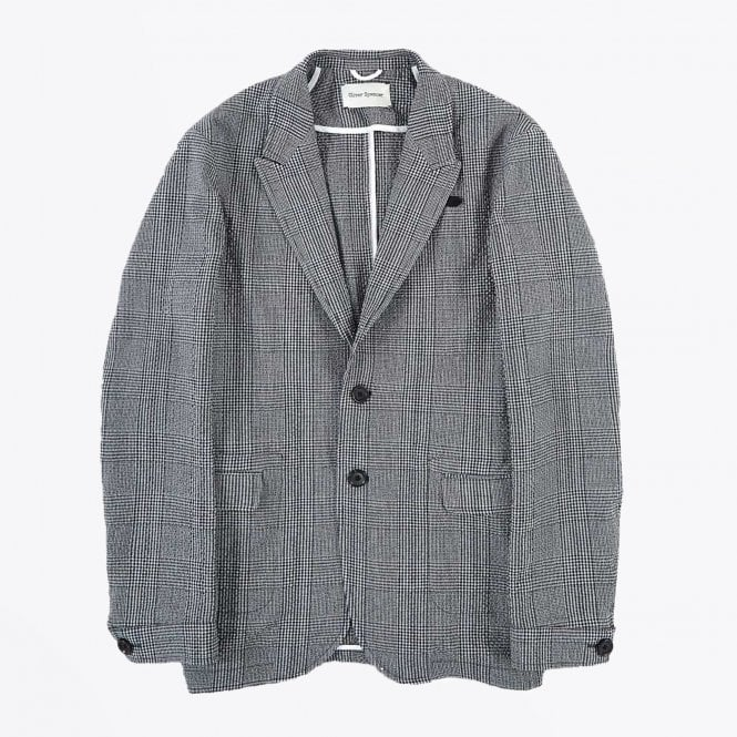 Oliver Spencer - Brookes Checked Jacket - Blue