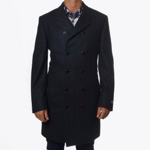 | Wardenclyfee Grey Coat | Double Breasted