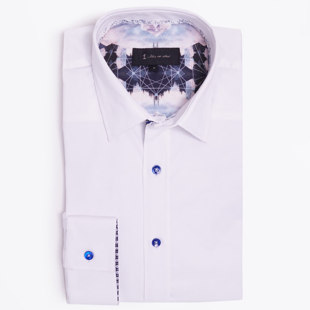 White Stretch Shirt| Mens Designer Shirts | One Like No Other