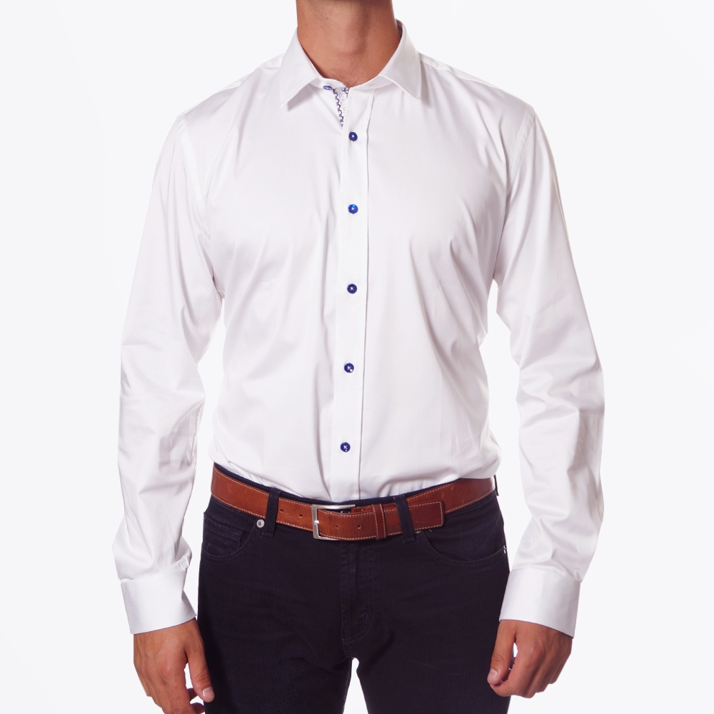 White Stretch Shirt Mens Designer Shirts One Like No Other