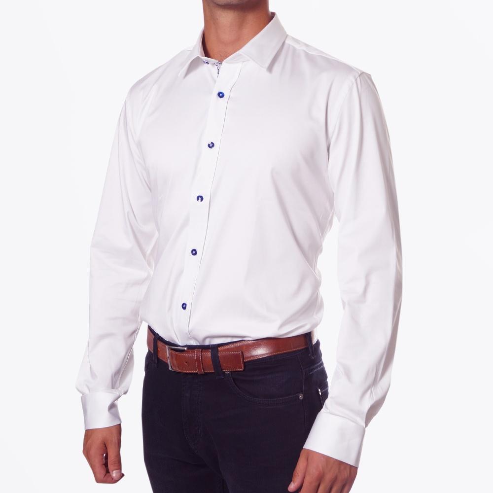 White Stretch Shirt| Mens Designer Shirts | One Like No Other